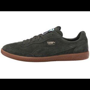 Puma super liga forest green shoes